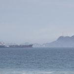 Barco de carga arriba a Manzanillo