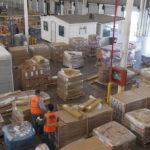 Vista superior de almacen de carga