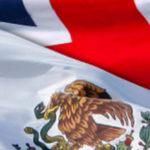 Banderas México y Reino Unido